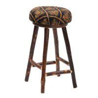 Upholstered Hickory Barstool