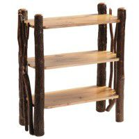 Hickory Bookshelf with Twig Accents