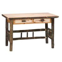 Hickory Writing Desk - 2 Drawers