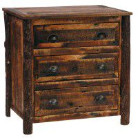 Premium 3 Drawer Barn Wood Dresser with Barn Wood Legs