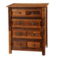 Premium 4 Drawer Barn Wood Dresser with Barn Wood Legs