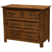 Premium 4 Drawer Low Boy Barn Wood Dresser