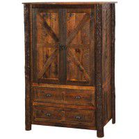 Barn Wood 2 Drawer Wardrobe