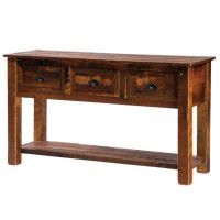 Barn Wood Console with Barn Wood Legs
