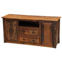 Barnwood Widescreen TV Stand
