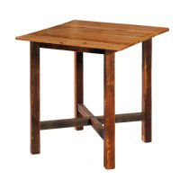 Barn Wood Square Pub Table