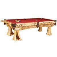 Cedar Log Pool Table