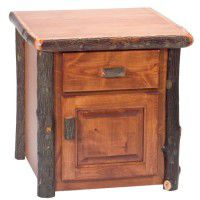 Enclosed Hickory End Table