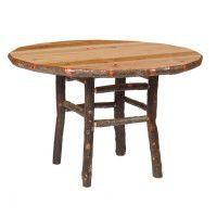 Round Hickory Dining Tables
