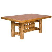 Rectangular Log Dining Table