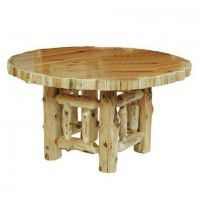 Round Log Dining Tables