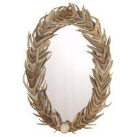 Oval Full Cover Antler Mirror
