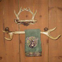 Rustic Antler Towel & Tissue Holder