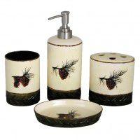 Merveilleux Pine Cone Bathroom Set