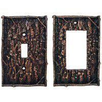 Pine Bark Switch Plates