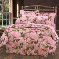 Pink Camo Comforter Sets