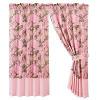 Pink Camo Drapes