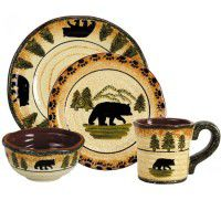 Black Bear Dinnerware