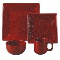 Savannah Dinnerware Set-Red