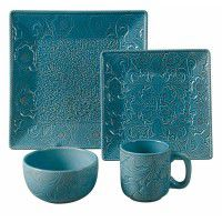 Savannah Dinnerware Set-Turquoise