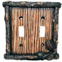 Lodge Pinecone Switch Plates
