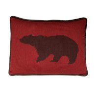 Knit Bear Accent Pillow