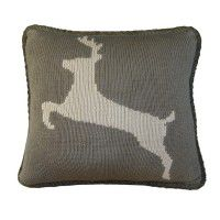 Knit Deer Accent Pillow