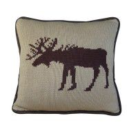 Knit Moose Accent Pillow