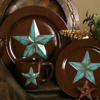 Superior Western Star Dinnerware   Service For 4