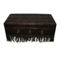 Faux Leather Star Storage Trunk/Bench
