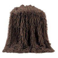 Brown Mongolian Faux Fur Throw