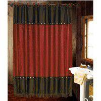 Red Cheyenne Shower Curtain