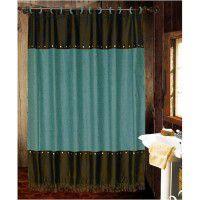 Turquoise Cheyenne Shower Curtain
