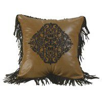 Filigree Embroidered Pillow