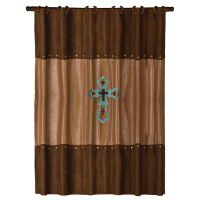 Embroidered Cross Shower Curtain