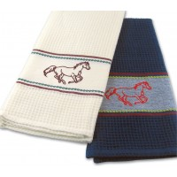 Horse Waffle Kitchen Towel