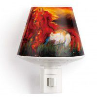 Horses Ceramic Nightlight with a Well for Essential Oils