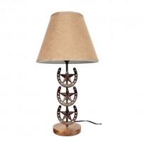 """25.5"""" Horse Shoe Cast Iron Lamp"""