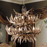 The Alleghany Faux Whitetail Deer Antler Chandelier