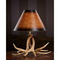 Faux Whitetail Deer Antler Desk Lamp