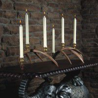 Faux Whitetail Antler Candelabra Set
