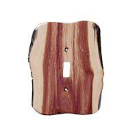 Rustic Single Toggle Switch Plate (3 wood options)