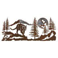 Mountain Lion Metal Wall Art