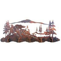 Fishing Bear Scenic Coat Rack