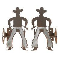 Cowboy Curtain Rod Brackets & Tie Backs