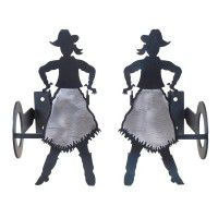 Cowgirl Curtain Rod Brackets & Tie Backs