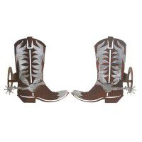 Cowboy Boot Curtain Rod Brackets & Tie Backs
