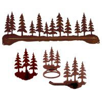 Pine Tree Towel Bars and Bathroom Accessories