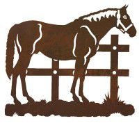 Standing Horse Metal Wall Art