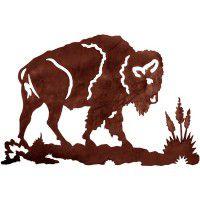 Prairie King Buffalo Metal Wall Art